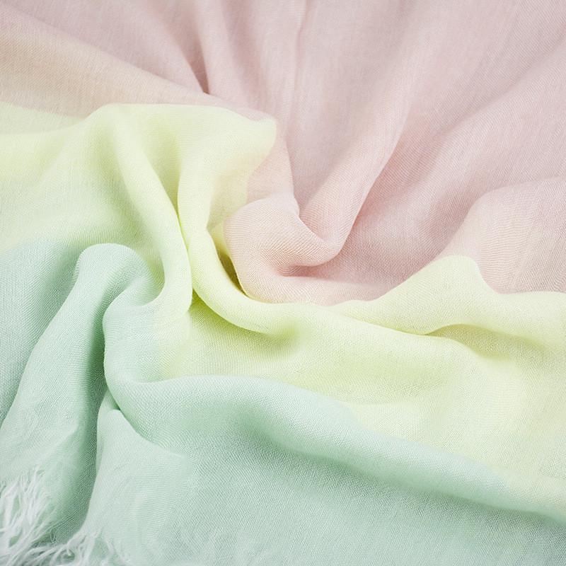 Pastel Three Soft Cotton Scarf | Lightweight Scarves