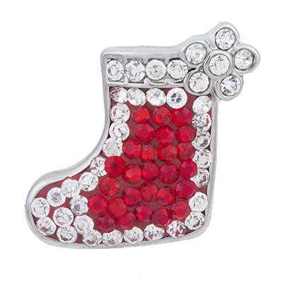 NSB2385 Hot Sale Snap Jewelry Button For Bracelet Necklace 2015 Fashion DIY Jewelry Crystal Santa Boot Unique Design Alloy Snaps