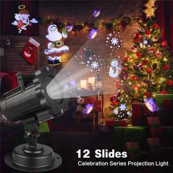 5 Вт водостойкий IP44 светодио дный светодиодный Цветок сливы голова анимированный проектор огни беспроводной пульт дистанционного