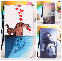 For ZTE BLADE Q LUX 4G Butteryfly Flower Leather Cases,Painting Patterns Stand Wallet 2 Credit Card Slots Cover