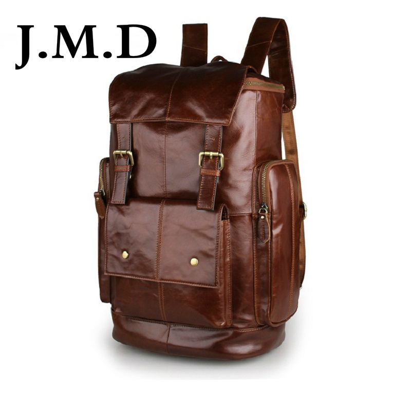 J.M.D 2019 New Arrival 100% Classic Leather Travel Bags Cowboy Genuine Leather Mens Trendy PC Backpacks Shoulder Bag 7311J.M.D 2019 New Arrival 100% Classic Leather Travel Bags Cowboy Genuine Leather Mens Trendy PC Backpacks Shoulder Bag 7311
