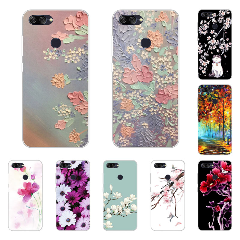 Asus Zenfone MAX PLUS M1 ZB570TL Case,Silicon Full flower Painting Soft TPU Back Cover for Asus ZB570TL Phone bags