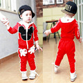 Christmas Spring Autumn baby clothing boys girls tracksuits cartoon shirt+ pants 2pcs kids boy clothes Children clothing set