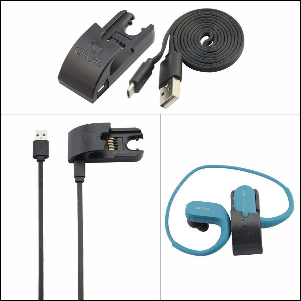 Replace Data Sync Cradle Dock Desktop USB Charging Clip Charger For SONY NW-WS414 NW-WS413 NW-WS623 NW-WS625 Walkman Headphone