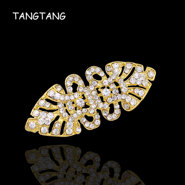 Fashion Rhinestone Wedding Ribbon Alloy Crystal Brooch Pins Wholesale And Retail Drop Shipping Custome Jewelry Item No.: BRH5235