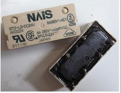 HOT NEW relay ST2-L2-DC24V AR2224 ST2-L2-24VDC ST2L2DC24V 24VDC DC24V 24V DIP8 hot new relay nf2e 24v nf2e 24vdc nf2e24v nf2e 24vdc dc24v 24v dip9 2pcs lot