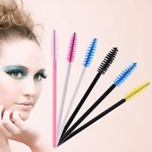 50PCS Eyelash Brushes Makeup Disposable Mascara Wands Applicator Eye Lashes Cosmetic Brush Tools