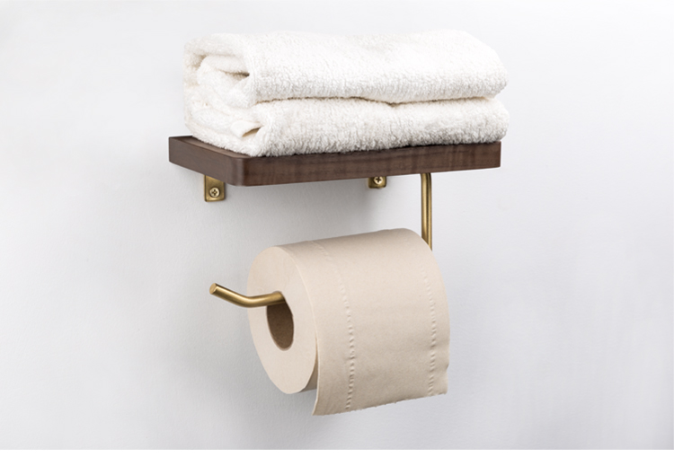 Wooden Paper Towel Rack