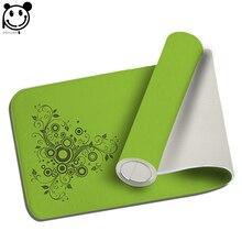 PEIYUAN Welcome Indoor Doormat Yoga Mat Door Blue and Green Lines Flowers Floor Mat Rug Carpet