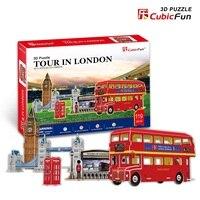 Candice guo BRICOLAGE jouet 3D papier puzzle assembler bâtiment modèle jeu C146h olympicl paysage tour à Londres bus bébé cadeau 5 pcs/ensemble