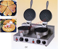 free shipping 110V 220V Double head for waffle oven, Belgium waffle girll , butter waffle machine