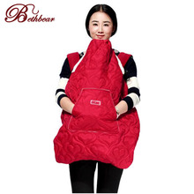 Bethbear Winter Baby Carrier's Cover with pockets for Mom Cloak for Sling Wrap Mantle Cover Backpack Carrier Infant Windproof