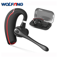 WOLFANG V8 Business Bluetooth Headset Stereo Noise Cancelling Bluetooth Earpiece Handsfree Wireless Earpiece For Smartphone