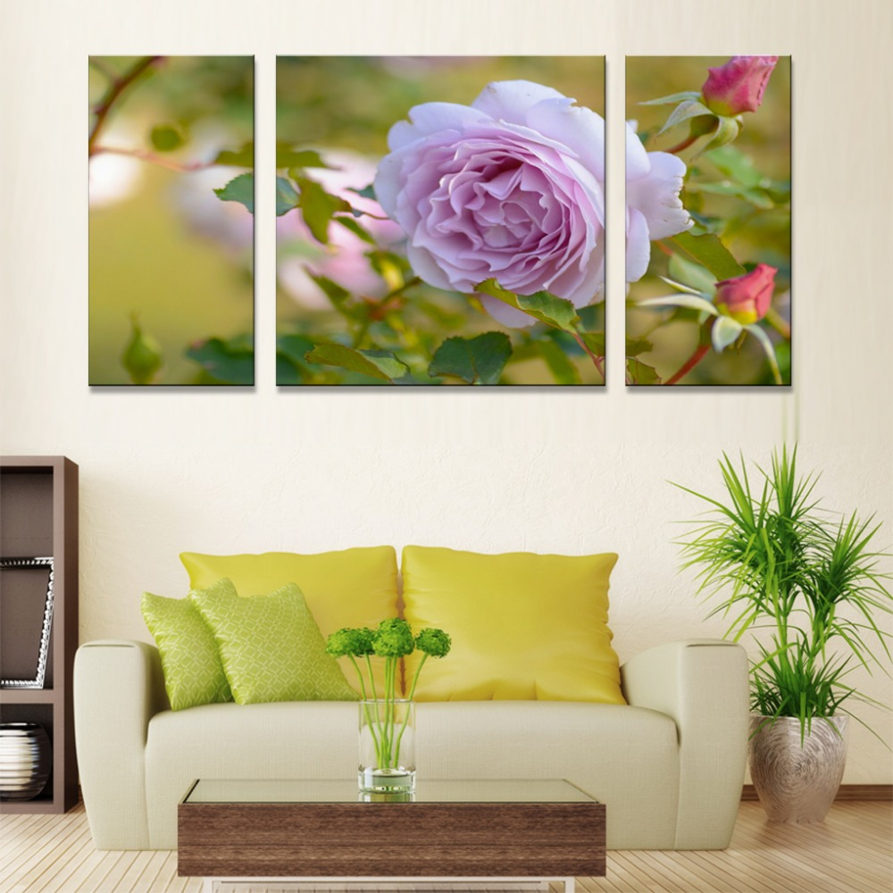 canvas wall art Nordic plaques Modular painting flowers posters and ...