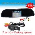 """FreeShip HD Vídeo Auto Monitor de Estacionamento Reverter CCD Retrovisor Do Carro Da Câmera para NISSAN QASHQAI X-TRAILWith 4.3 """"Carro Espelho retrovisor"""