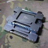 Titanium EDC multi function tool card, simple and practical tactical banknote clip, all titanium alloy TC4 material