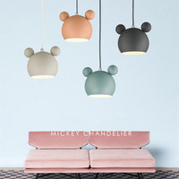 Cute Mickey Pendant Lights,Metal Hanglamp Led Lamp,Iron Hanging,Light for Children's Room Bedroom,Cute Gift For Kids Lamp
