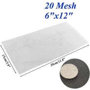 Image 4 - 5/8/20/30/40 Mesh tkanina tkana ze stali nierdzewnej przewód do ekranu arkusz filtra 6x12