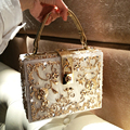Moda feminina de alta qualidade Saco Jantar de Ouro gravura diamante única Bolsa bolsa de ombro Crossbody Bag