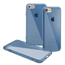 Baseus Простой Серии Защитная Мягкая TPU Прозрачный Чехол Для iPhone 7 Синий