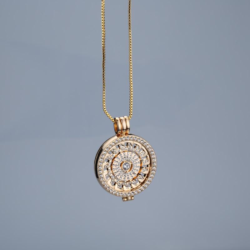 New rose gold antar hangeable kalung 35mm kalung fashion cocok saya - Perhiasan fashion - Foto 5