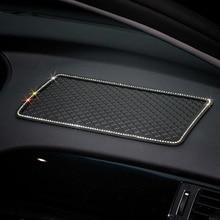 1PCS 30x15cm Crystal Anti-Slip Pad Mat for Mobile Phone mp4 GPS Silicone Diamond Car Sticky Anti Slip Car Charm anti slip mats