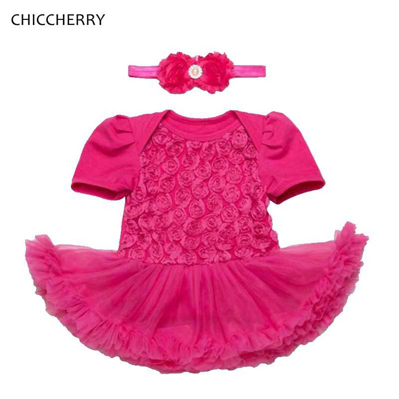 0ef2a57973192 ... 3D Rose Toddler Valentine Dress Headband Vetement Bebe Fille Newborn  Baby Girl Clothes Valentine s Day Outfit ...