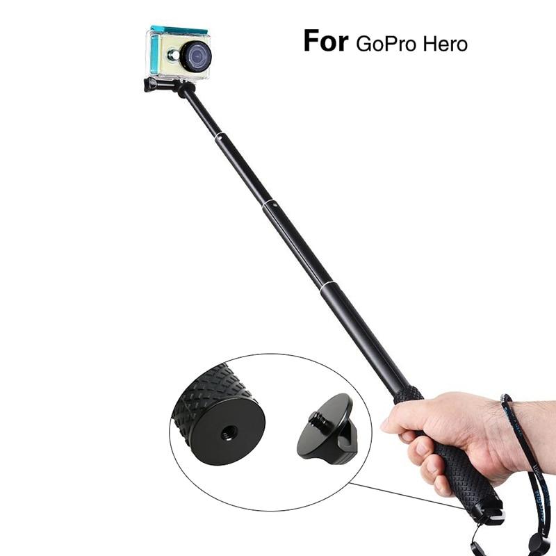 aluminum extendable handheld selfie stick gopro monopod for gopro go p. Black Bedroom Furniture Sets. Home Design Ideas