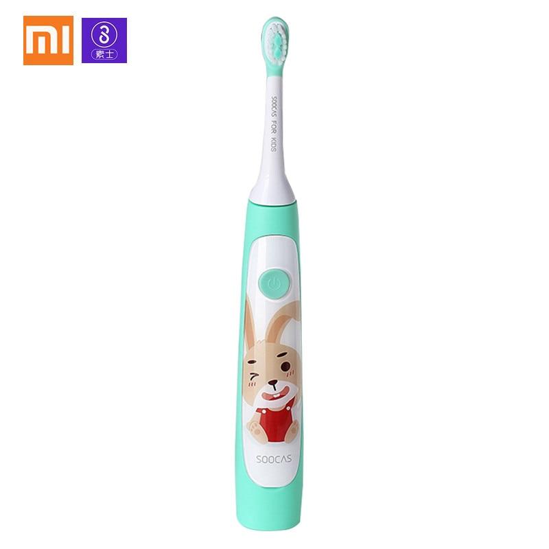 Xiaomi SOOCAS C1 sonic Электрический Зубная щётка для маленьких детей Водонепроницаемый Перезаряжаемые милые умные ультра sonic зубная щетка уход за зубами купить на AliExpress