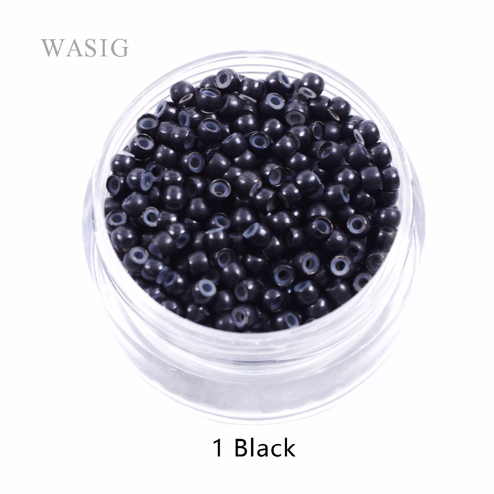 200pcs 500 Pcs 3.0mm Silicone Nano Rings For Nano Rings  Copper With Silicone Lined Hair Beads Hair Rings Hair Extension Tools