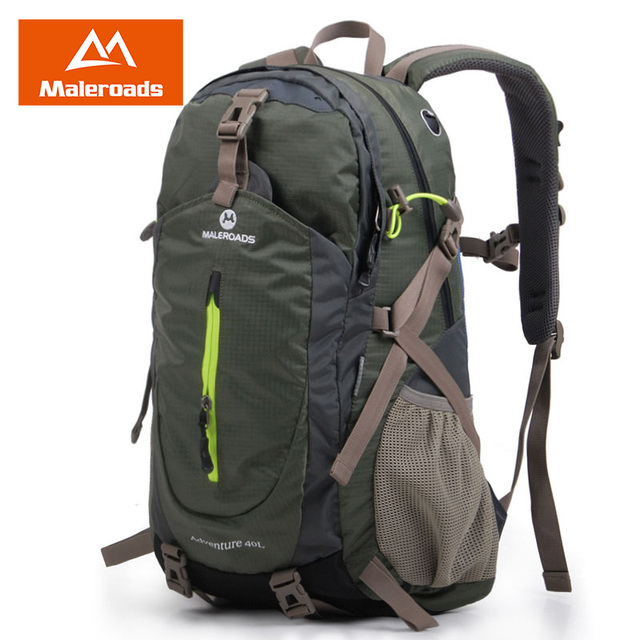 Maleroads Rucksack Hiking Backpack Travel Backpack Outdoor Sport Bag Waterproof Backpack Camp Pack Trekk Rucksack Men Women 40L 1