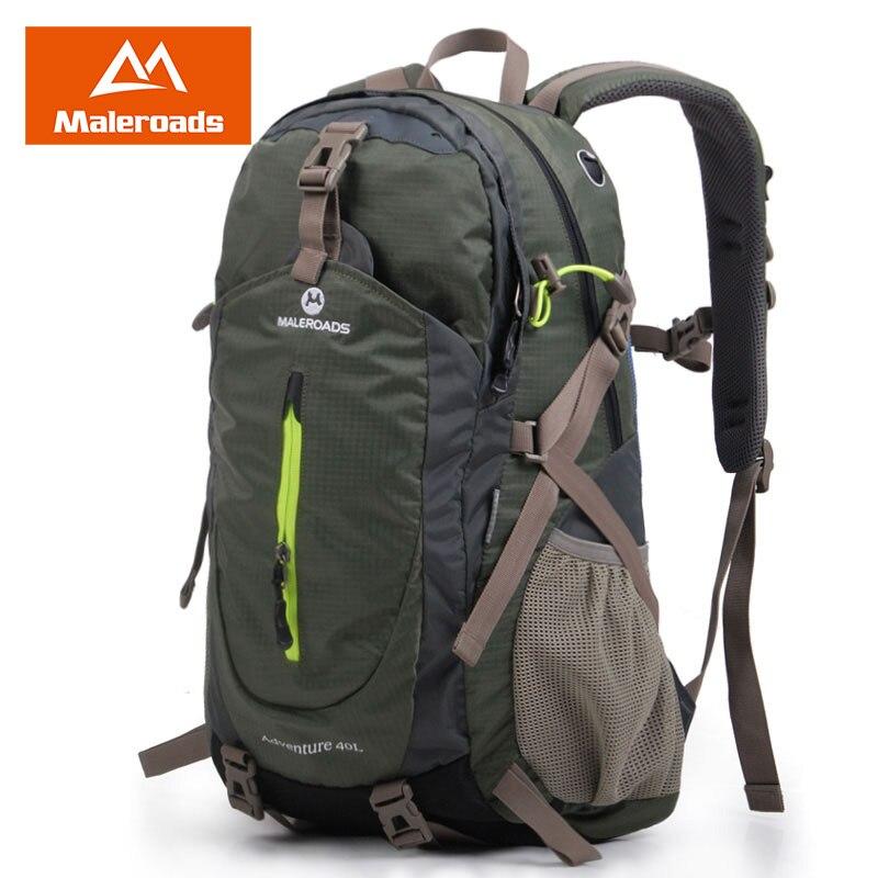 Maleroads mochila senderismo mochila viajes mochila deporte al aire libre mochila impermeable campamento paquete Trekk mochila hombres mujeres 40L
