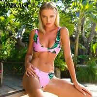 OMKAGI Swimwear Women Sexy Swimsuit Push Up Bikini Set Swimming Bathing Suit Women Summer Beachwear Brazilian