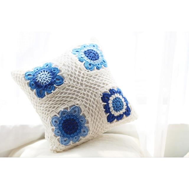 Estilo chino Es Clásica Porcelana Azul y Blanca Almohada Cubierta de ...