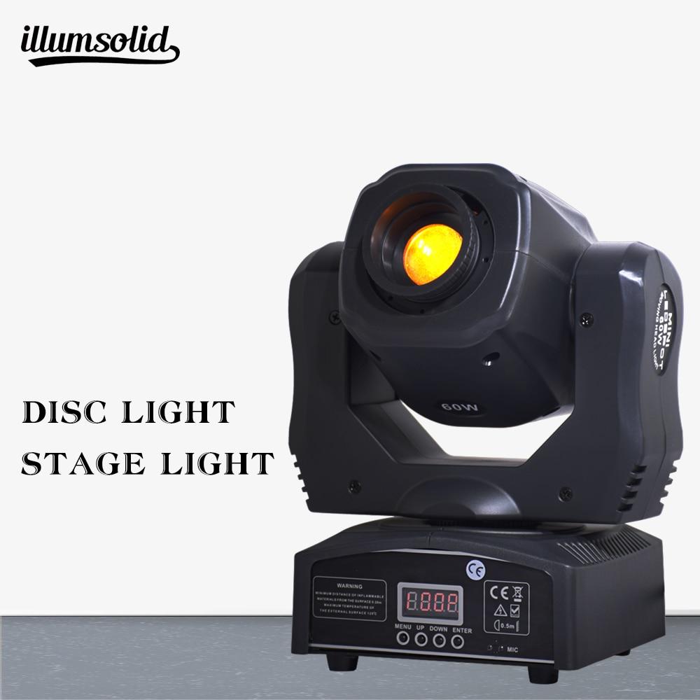 1 Pieces/lot Moving Head 60w Led Gobos Lighs 60 W LED DJ Spot Light