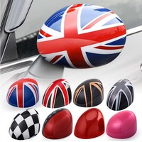 1 Pair For Mini Cooper R55 R56 R57 R60 R61 ABS Outside Rearview Side Mirror Cover Cap Shell Union Jack Countryman Accessories