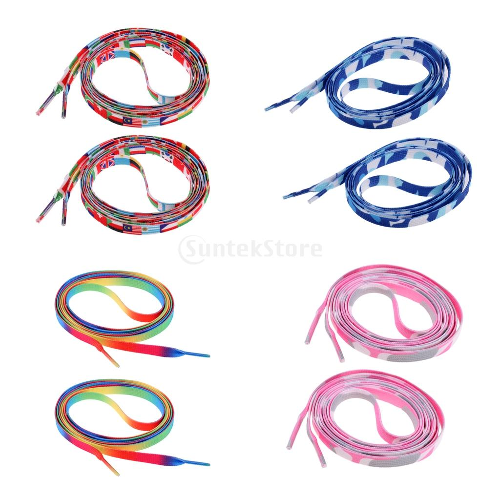 1 Pair Knitted Shoelace For Roller Skates Boots Hockey Skates Optional Color