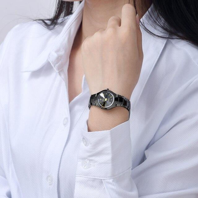 DOM 2018 Nuove Donne Della Vigilanza relogio feminino Vestono orologi al quarzo oro argento impermeabile bracciale In Acciaio Al Tungsteno orologi W-398GK-1M