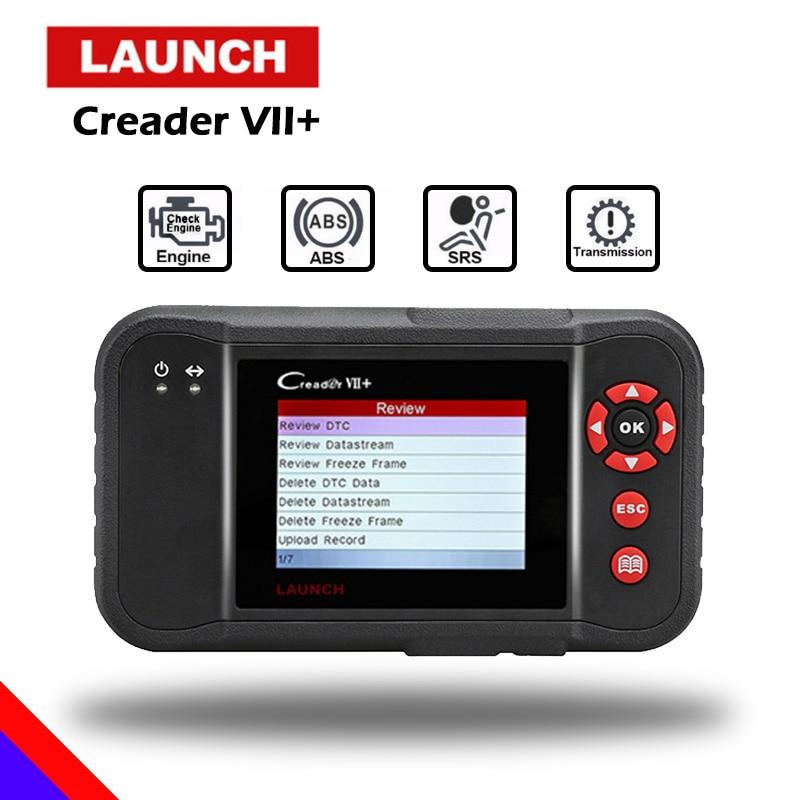 Lanzamiento de X431 Creader VII Plus VII + de lector de código OBD2 escáner OBD 2 lanzamiento CRP123 OBDII herramienta de diagnóstico automotriz herramienta de escaneo