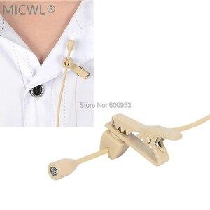 Image 4 - Micro micro cravate omnidirectionnel Beige de haute qualité micro micro pour Shure Audio Technica Sennheise MiPro système sans fil