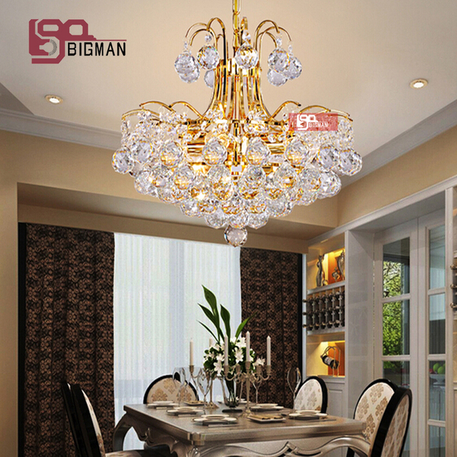Hot Sales Modern Pendant Chandeliers Silver/gold Crystal Chandelier LED  Suspension Luminare Home Lighting