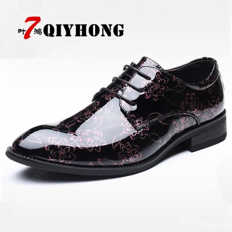 5f9f78a4f6 Luxury Brand Patent Leather Shoes Men Oxfords Men s Flats Formal Shoes  Classic Business Dress Shoes Men s Oxford Flats Big Size
