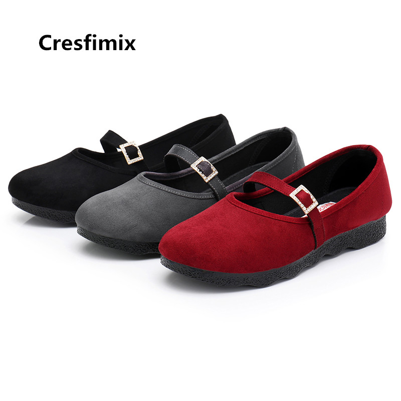 Cresfimix zapatos planos de mujer women cute comfortable spring crystal work flat shoes lady casual black dance shoes a3128Cresfimix zapatos planos de mujer women cute comfortable spring crystal work flat shoes lady casual black dance shoes a3128
