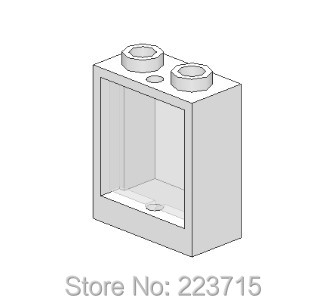*Window 1x2x2 w. glass* 20pcs Y1026 DIY enlighten block brick part No.60592 Compatible With Other Assembles Particles free shipping manor 3 diy enlighten block bricks compatible with other assembles particles