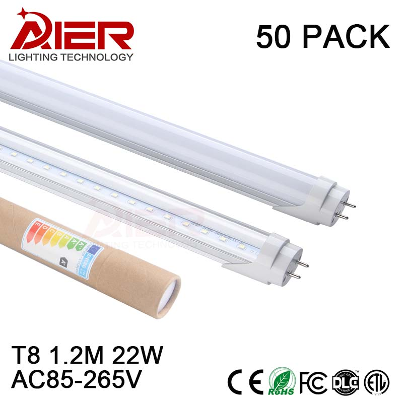 Free shipping CE T8 <font><b>led</b></font> tube <font><b>1200mm</b></font> 4ft 22Watt SMD2835 high lumen high power factor