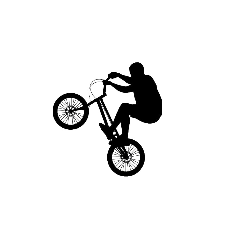 10.2*10.7CM Fashion Cycling Car Stickers Cute Motorcycle