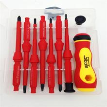 2016 New 7pcs Electrician s Insulated Electrical Hand Screwdriver Tool Set Phillips Screwdriver Electrician Dedicated
