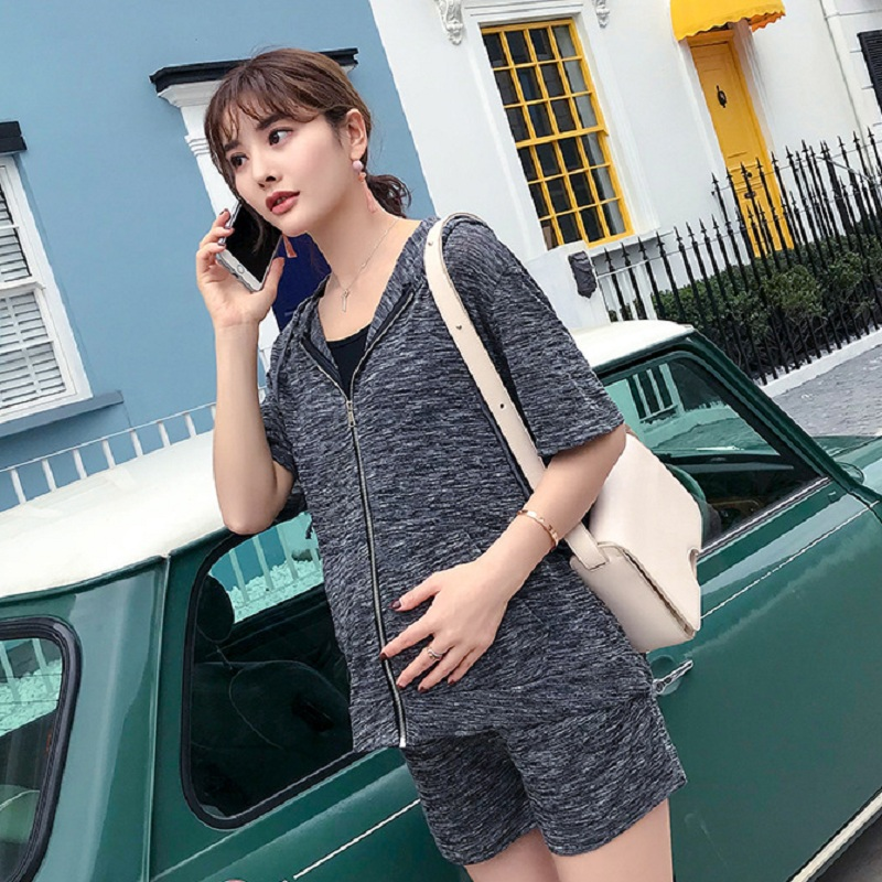 New summer maternity clothing set maternity sports sets maternity t shirts and short pants pregnancy woment suits 1618