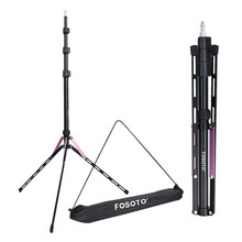 Fusitu FT-190 Photography Tripod 75inch/191cm Light Stand for Smart Phone Mount and Ring Video Portrait Softbox Background