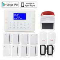 433 Mhz PSTN Alarm Systems Security Home GSM Touch Screen Outdoor Solar Powered Strobe Siren Remotely